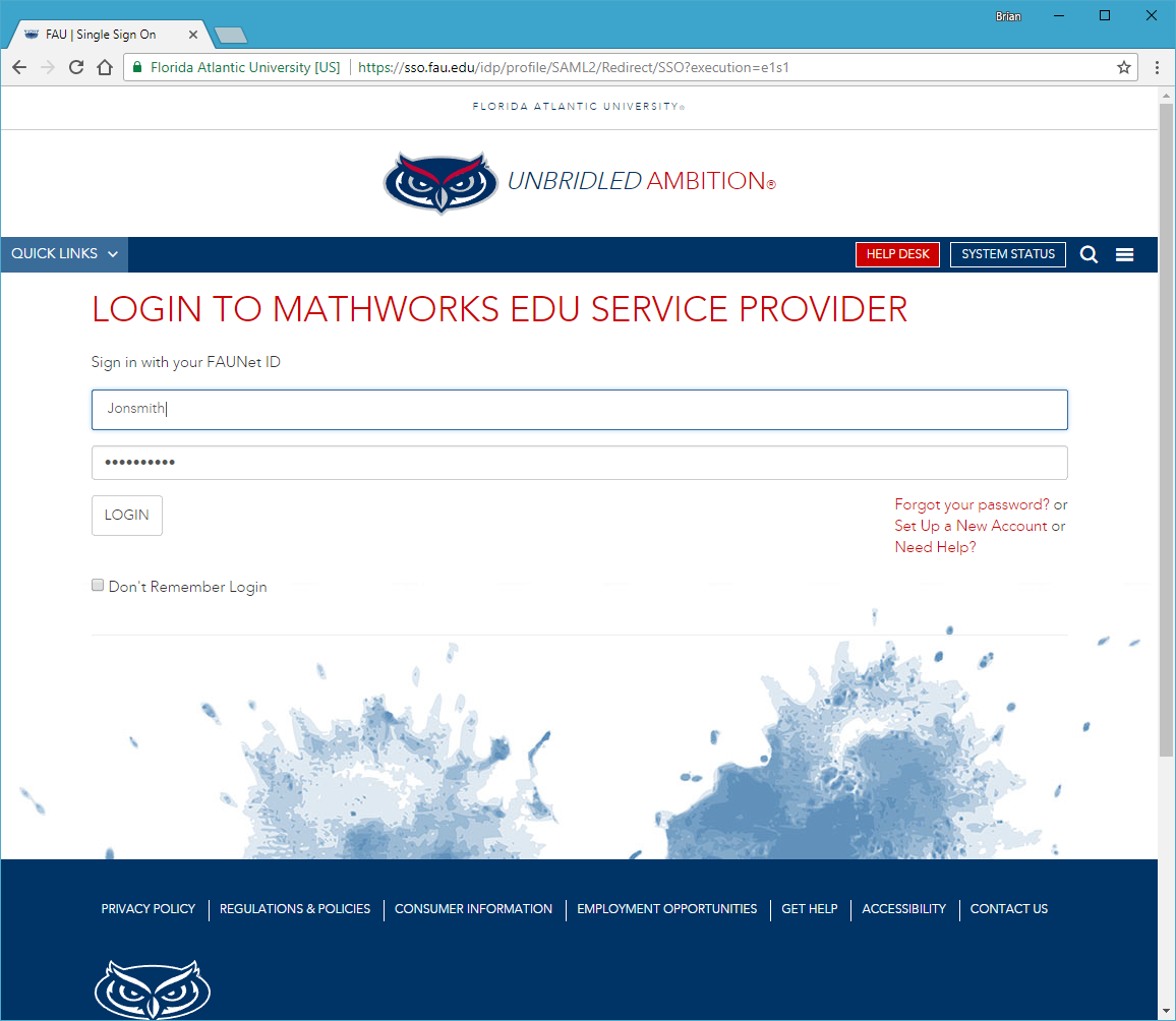 Charming Login With Your FAU NetID And Password. Nice Look